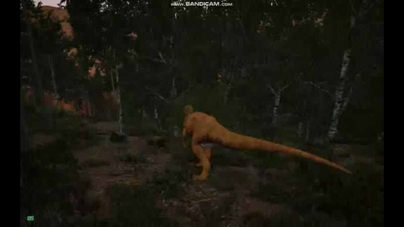 Побегушки с Аллозавром в The isle