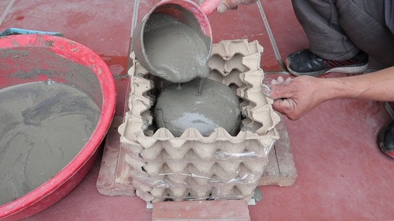 Amazing Ideas From Cement And Egg Tray Simple Way To Have Beautiful And Unique Pots At Home