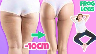 Toned & Slim Thighs, Butt in 2 WEEKS   9Mins Frog Legs Workout, No Jump