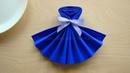 Servietten falten: Kleid - Tischdeko basteln 👗 Deko selber machen z.B. Hochzeit, Geburtstag