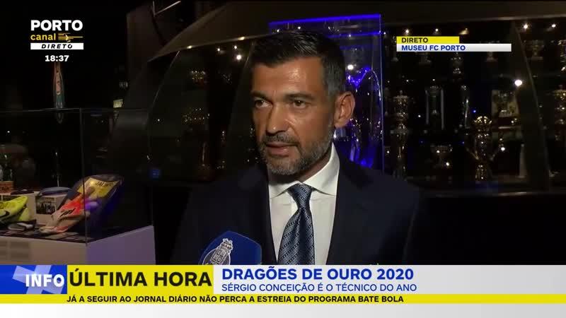 Dragão de Ouro Treinador do Ano Sérgio Conceição