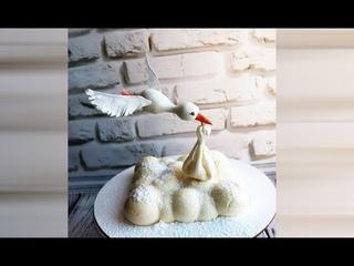 Как установить летящую птицу на торт. Торт с парящей птицей.
