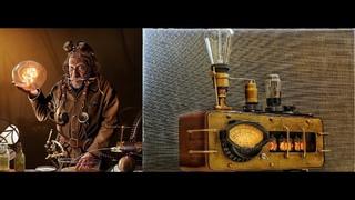 Электрические часы с вай фаем  в 19 веке.