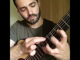 Бах Шутка на гитаре