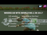 Season Review 2017 saw FIVE players crowned #WTA World No.1 tennis insight