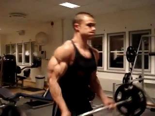 Heavy biceps curls 65 kg,massive biceps,totally shredded