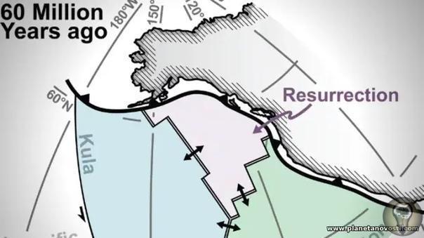 Обнаружена утерянная тектоническая плита
