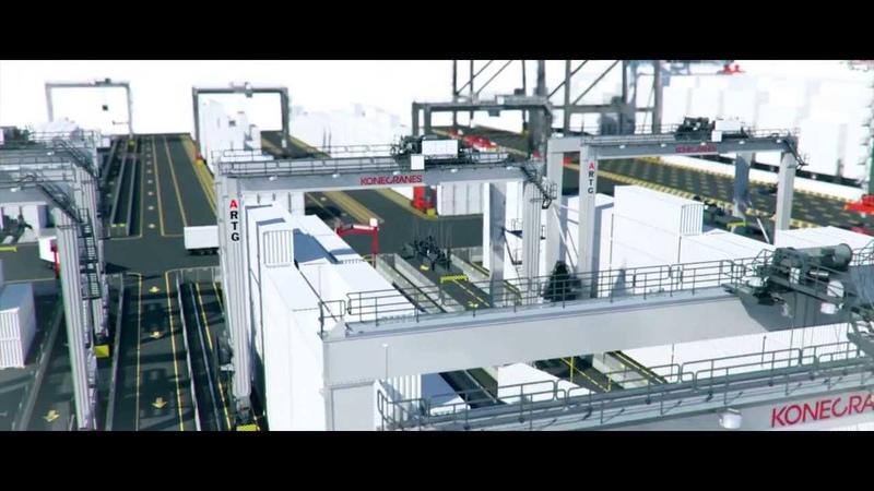 ARTG container handling system by Konecranes