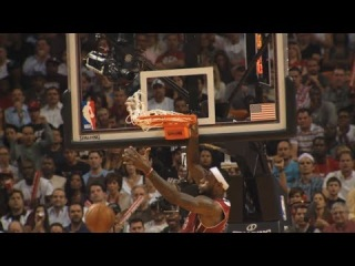 LeBron James' Dunk on David West in Slow-Mo | Pacers vs Heat | December 18, 2013 | NBA 2013-2014