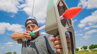 Nerf Bow Trick Shots   Dude Perfect
