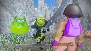 Shrek VS Dora The Destroyer: Wazowski`s Sword Of Cringe