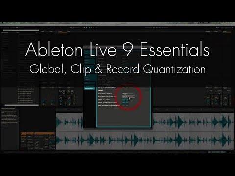 Ableton Live Tutorial - Global, Clip Record Quantization
