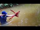 Building Amazing Simple Style PVC Power Springs Bowfishing For Shooting Huge Fish -Make n Use
