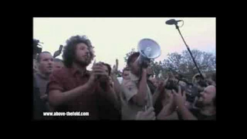 Rage Against the Machine RNC - 09.02.08 (Performs Acapella in Crowd)
