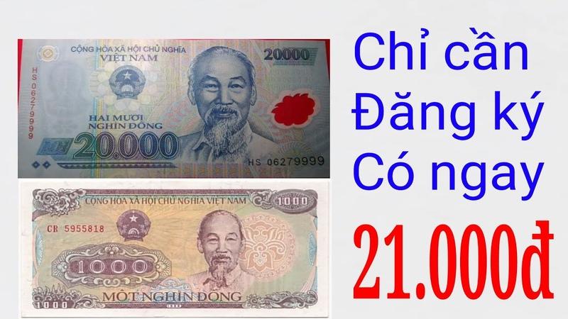 Chỉ Cần Đăng Kí Có Ngay 21.000 Nghìn Tiền Mặt Trang Web Kiếm Tiền Mới 100