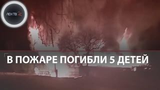 Пятеро детей погибли в пожаре в сельском доме на Урале