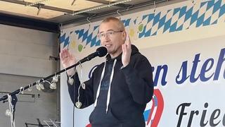 Hansjörg Müller Bundestagsabgeordneter zu Rolf Kron #Demo #Wasserburg a.I. #Badria