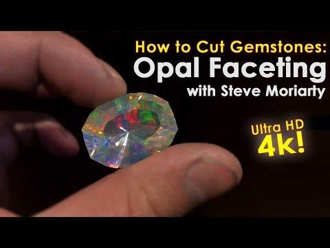 How to Cut Gemstones Opal Faceting in 4K