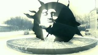 Памяти Виктора Цоя посвящается. Монумент в городе Караганда Казахстан.