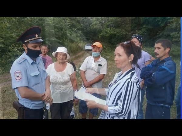 Посещение лагеря защитников КУШТАУ и задержание местной жительницы Рузины Мухамеджановой .